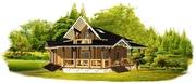 Двухэтажный дом-баня «Ранчо» 11м*13м