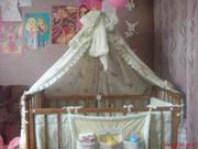 Продам детскую кроватку в хорошем состоянии(цвет орех).
