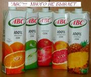 Цитрусовые соки компании ABC производства Белоруссии